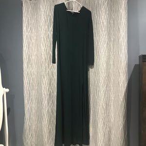 Lulu's Swept Away Forest Green Maxi Dress XL